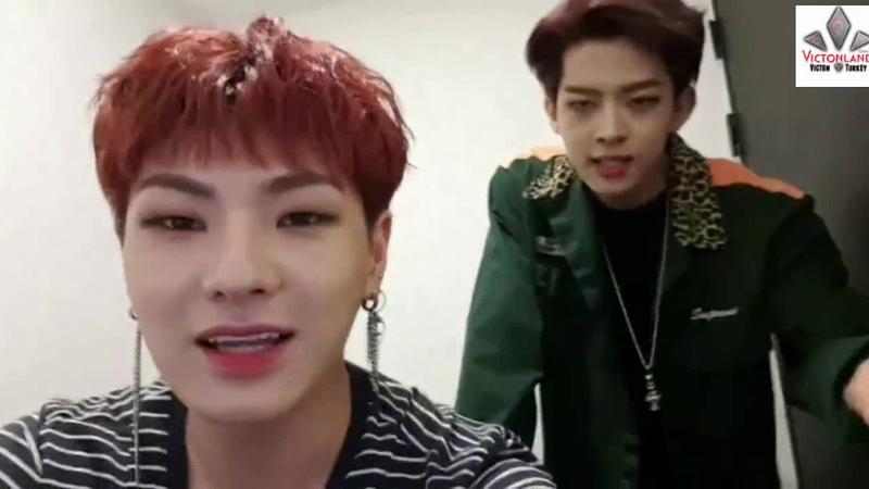 180614 VICTON V Live HanSe and SuBin sing BTS - FAKE LOVE