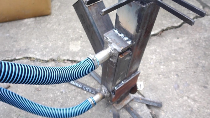 Rocket Stove Water Heater (First Attempt)