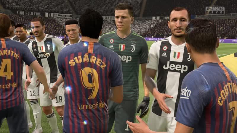 FIFA19 сложность легенда 1-й тайм Барселона - Ювентус