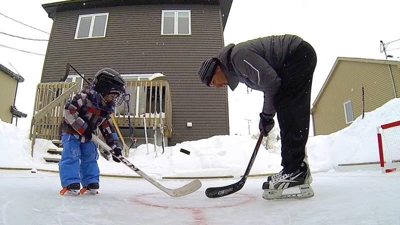 GoPro Father and Son Backyard Hockey Fun
