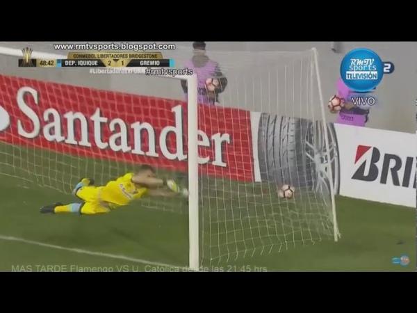 Gol de Diego Torres - Dep Iquique 2 x 1 Gremio - Copa Libertadores