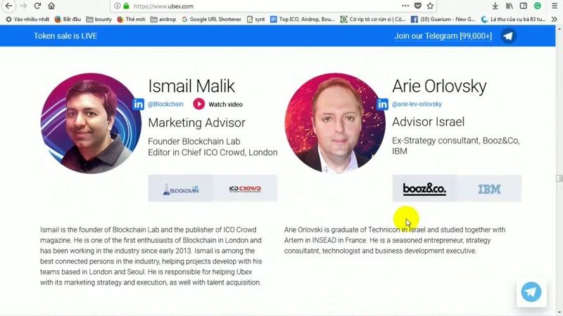 UBEX ICO REVIEW - Công nghệ, đội ngũ Core Team và tham gia whitelist