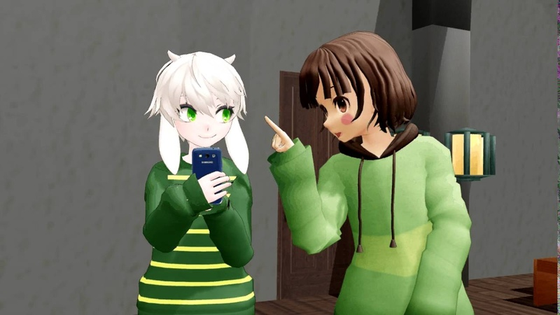 [MMD X Undertale X Vine] Chara and Asriel at a (Toriel and Asgores) wedding