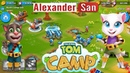 ЛАГЕРЬ ГОВОРЯЩЕГО ТОМА Атаки на Лагеря Челленджы Мультиплеер Tom Camp Gameplay Android