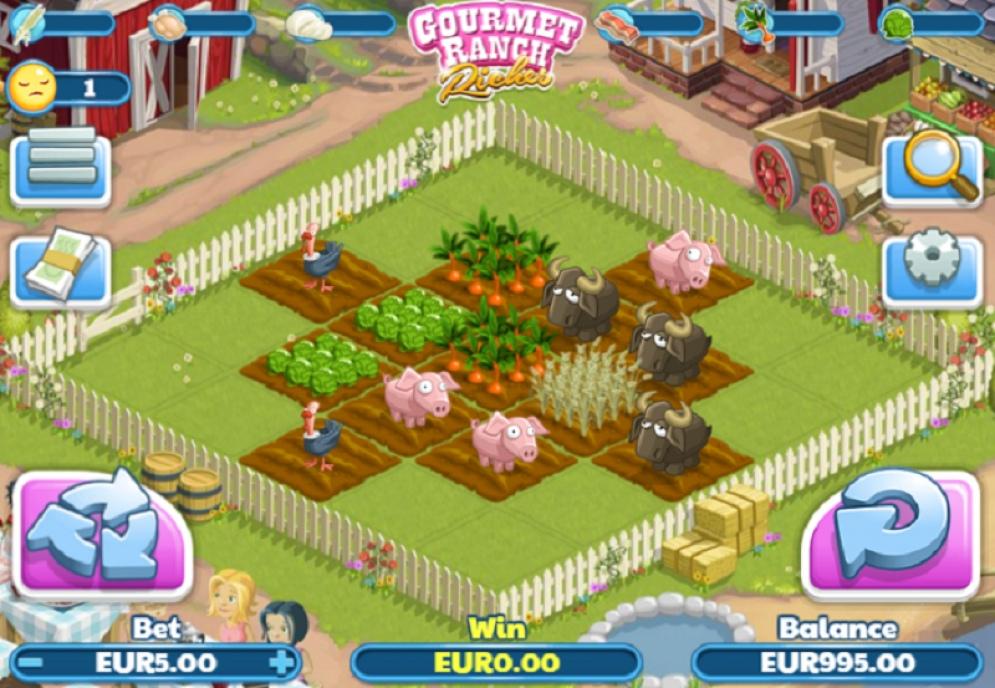 Вулкан: Игровые автоматы Gourmet Ranch Riches