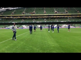 A few have headed out to take a look at the pitch... We'll have team news very shortly! - - CFCinDublin