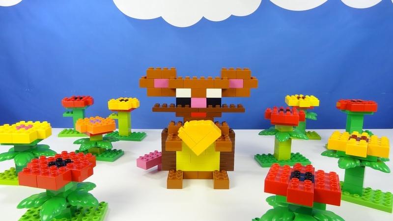 Строим из Lego Duplo, Lego Duplo the figure of a mouse, rat - Лего Дупло мышка, мышь