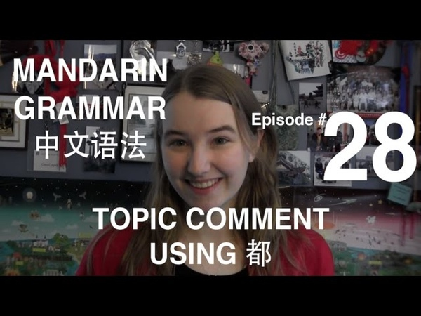 Mandarin Grammar 28 Topic Comment Using 都