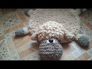Плюшевый коврик БАРАШЕК sven из Alize Puffy