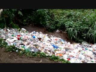 A river of plastic waste in guatemala