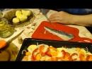 Рыба Скумбрия с овощами запечённая в духовке!Mackerelfish with vegetables, baked in the oven!.mp4