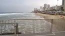 Бат Ям Израиль. Набережная, Море, Зима, Дождь