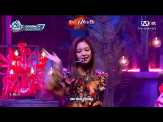 [Sub Indo+Kara] M COUNTDOWN Ep.500 BLACKPINK - PLAYING WITH FIRE (10 Nov 2016)