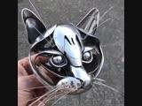 Забавный котик - Глаза боятся - руки делают
