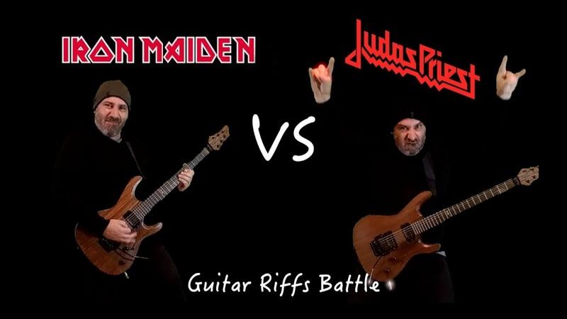 Iron Maiden VS Judas Priest (Guitar Riffs Battle)