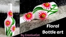 Bottle art bottle vase Best out of waste art and craft wine bottle craft