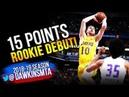 Svi Mykhailiuk Rookie Debut 2018.07.02 Lakers vs Kings - 15 Pts! | FreeDawkins