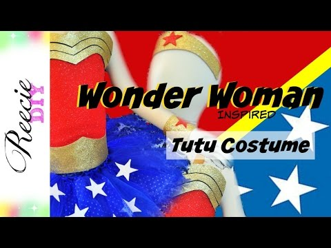 How to make a Wonder Woman Costume Tutu