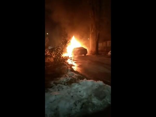 Сгорел автомобиль Ирины Сущенко. 16.02.2019