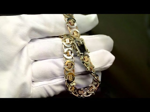 Эксклюзивный золотой браслет Тристан из красно-белого золота