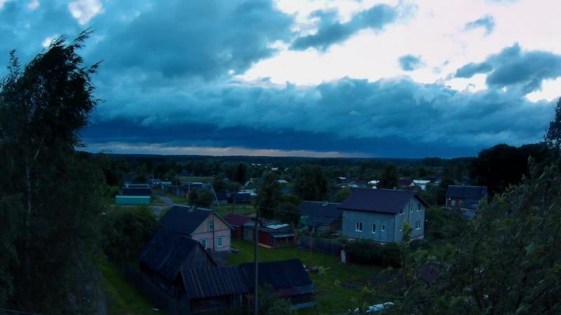 Закат Дождь Тучи уходят в Финляндию