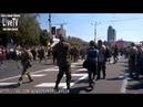 Донецк 24 августа 2014 года. Эпизод с флагами