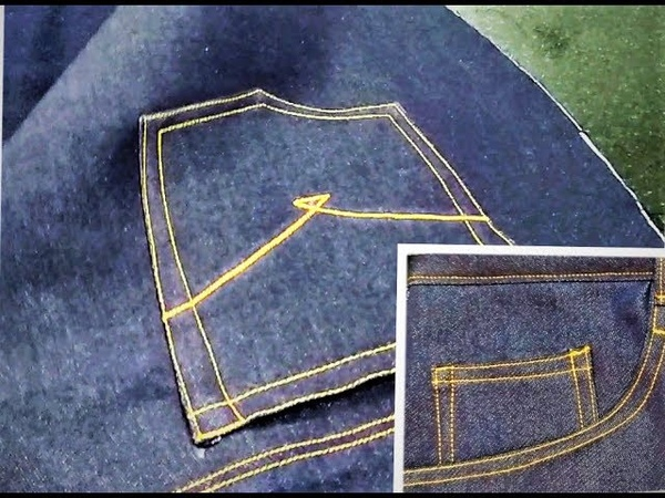 How to make Jeans pant pockets
