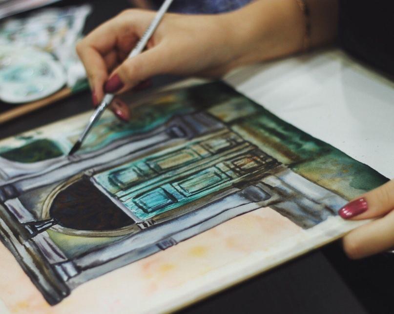курсы рисования, рисование для начинающих, уроки акварели, рисование акварелью с нуля
