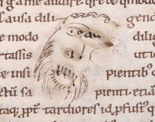 Средневековое искусство создания книги Иногда пергамент был неидеальным и тогда переписчики проявляли изобретательность: вышивали шёлком, пришивали заплатки, создавали рисунки вокруг отверстий,