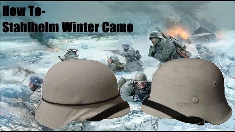 How To - Stahlhelm Winter Camo || TWO WAYS!