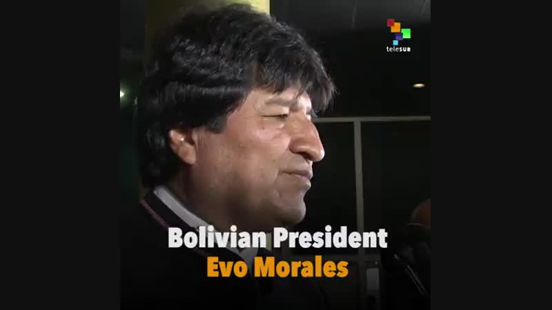 Evo Morales speaks of Fidel Castro