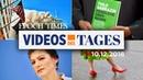 Videos des Tages Nahles Sarrazin Frankreich Offener Brief der Generäle CDU AfD mehr