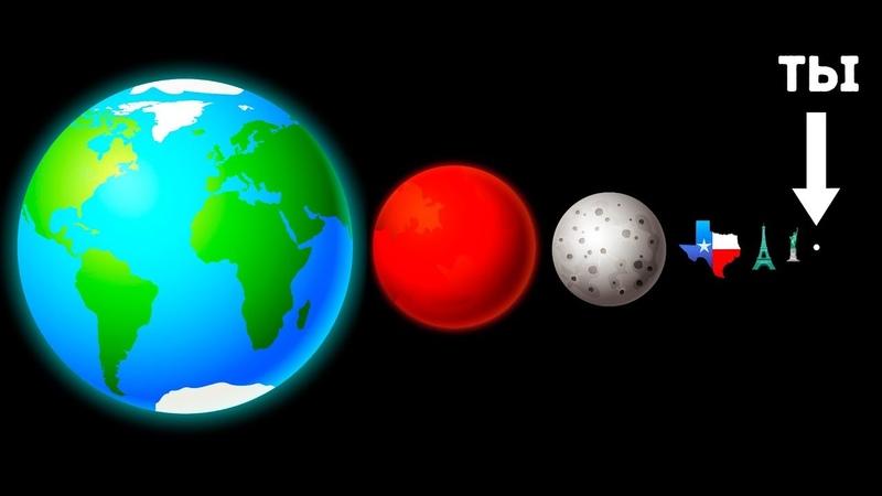 Настоящий Размер Вселенной (Будет Понятно Даже Ребенку)