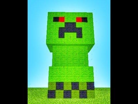 Статуя КРИПЕРА в Minecraft PE