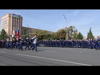 Торжественный марш курсантов РВВДКУ пл.Ленина, Рязань 08.09.2018 г