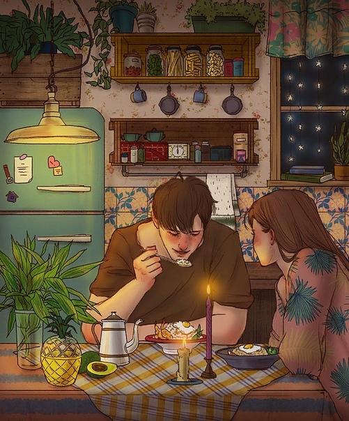 Ты всегда такой романтик Нет, только если ночевать негде.