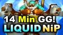 LIQUID vs NiP - AMAZING 14 MIN GG - KL MAJOR DOTA 2