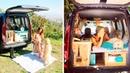 Девушка восстановила фургон и теперь путешествует по миру со своей собакой
