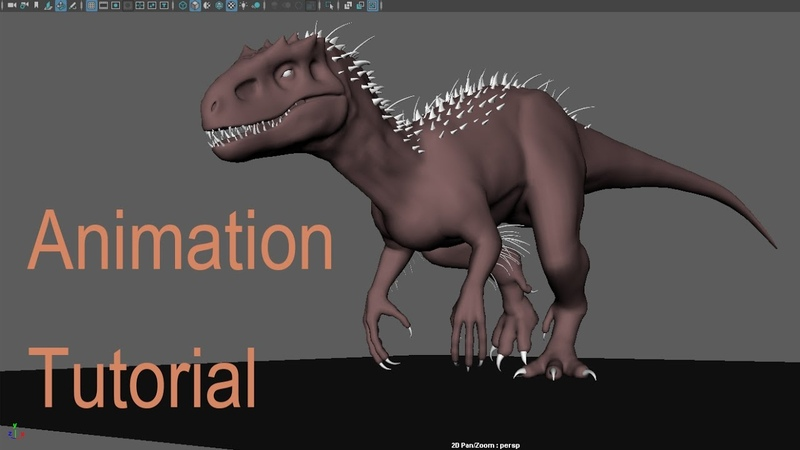 I / T-rex walkcycle tutorial - Maya - Nav Tutorials