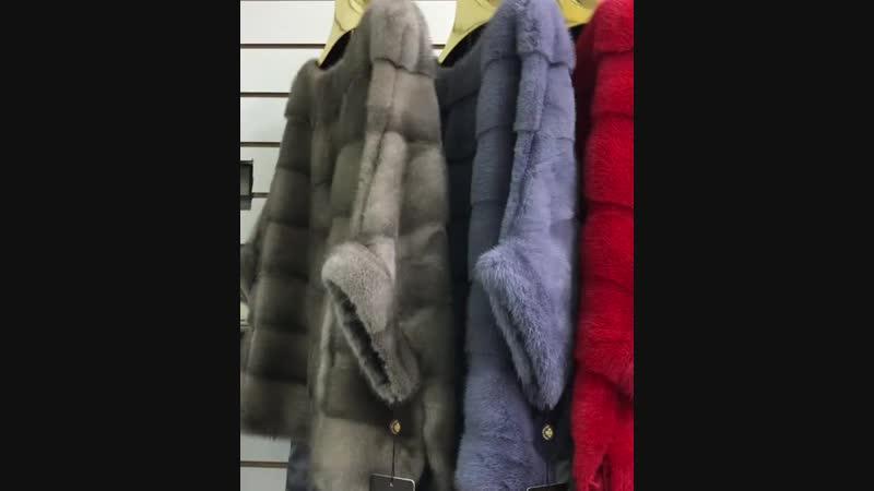 Норковые пончо свитерочки