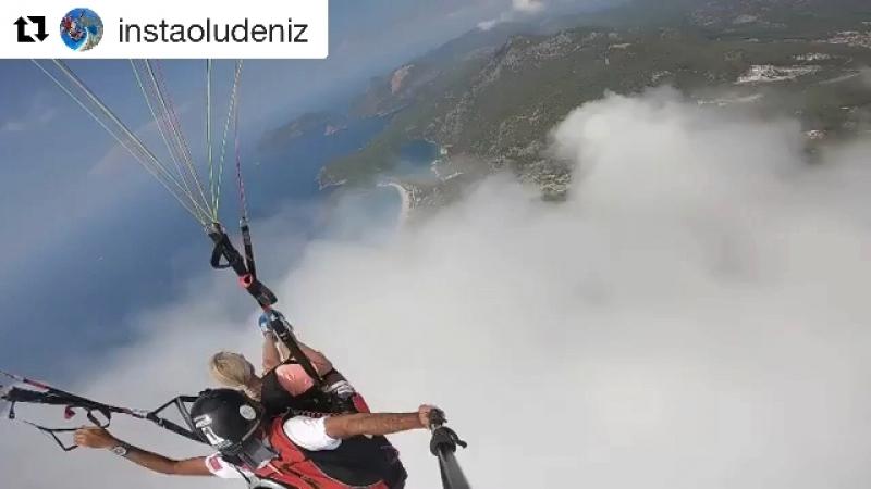 Параглайдинг, Олюдениз, гора БабаДаг. Видео с прыжка и до приземления