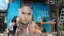 The «Jean»: Ronda Rousey NYC graffiti mural time-lapse