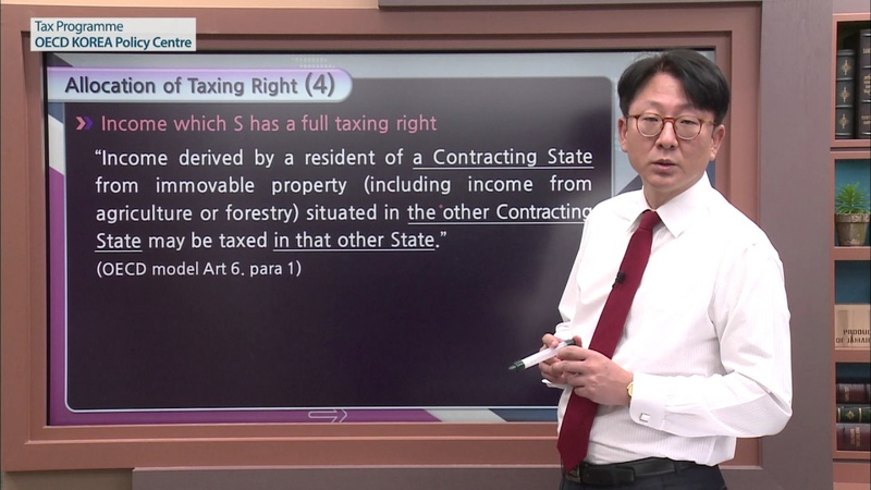 [OECD Tax] Model Tax Convention Lecture 3 Jae hyung Jang