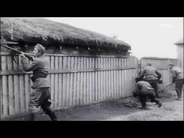Waffen SS raid Russian village- kill Jews and partisans then burn it all down