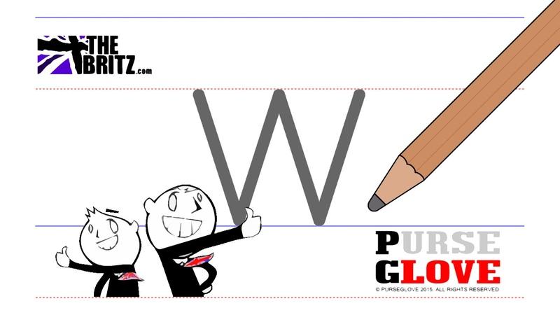 Writing English Alphabet - lowercase w