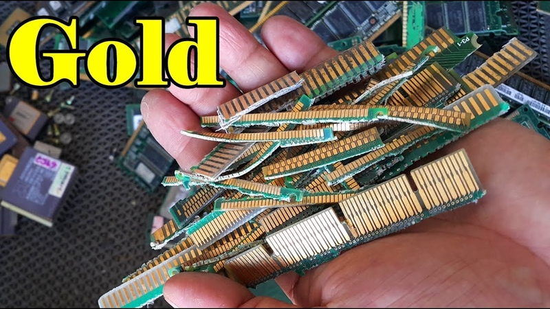 How to prune gold recovery from computers parts electronics. Theres gold in them circuit boards pcb