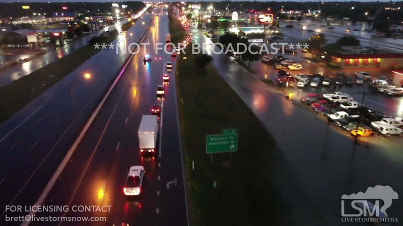 06-01-2019 - Amarillo, TX Flooding highlights from drone I-40 and Paramount and S Avondale