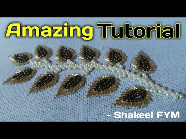 Hand Embroidery Design Tutorial | Aari embroidery | hand work | Aari work