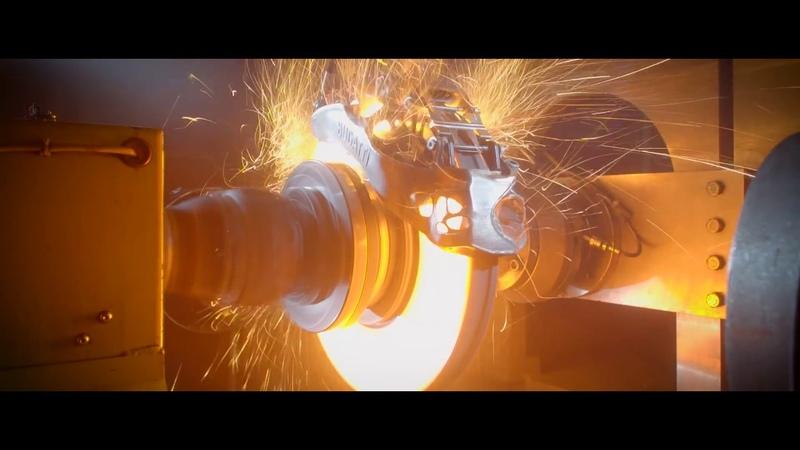 BUGATTI CHIRON Titanium brake-test extreme