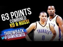 Kevin Durant Russell Westbrook 63 Pts Combined in 2012 Finals Game 1 vs Heat! | FreeDawkins